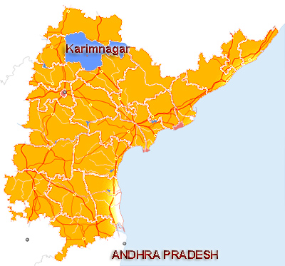 Karimnagar District Map